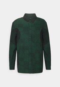 Henrik Vibskov - DOUBLE MIRROR SHOWERTILES - Shirt - black / dark green - 4