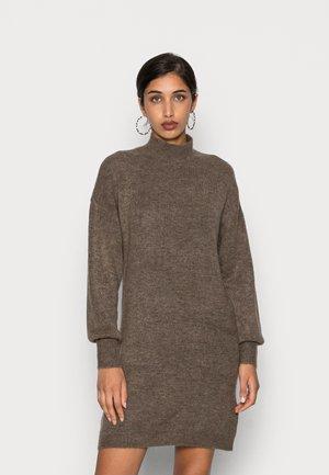 VMLEFILE HIGHNECK DRESS - Jumper dress - bungee cord melange