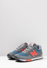New Balance - ML574 - Matalavartiset tennarit - grey/blue - 2