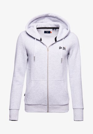 ORANGE LABEL ZIP HOODIE - Zip-up hoodie - ice marl
