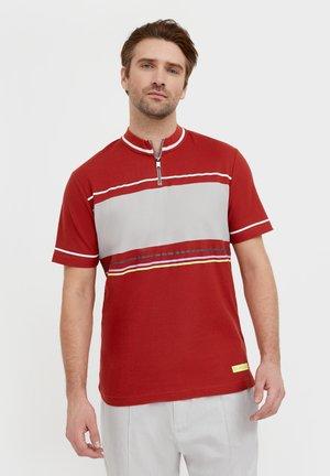 Print T-shirt - red-brown