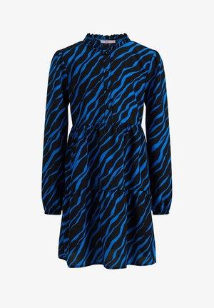 MEISJES JURK MET ZEBRADESSIN - Vestido camisero - cobalt blue