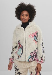 Bershka - MIT PRINT  - Fleece jacket - stone - 0
