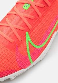 Nike Performance - MERCURIAL ZOOM VAPOR 14 PRO TF - Astro turf trainers - bright crimson/metallic silver - 5