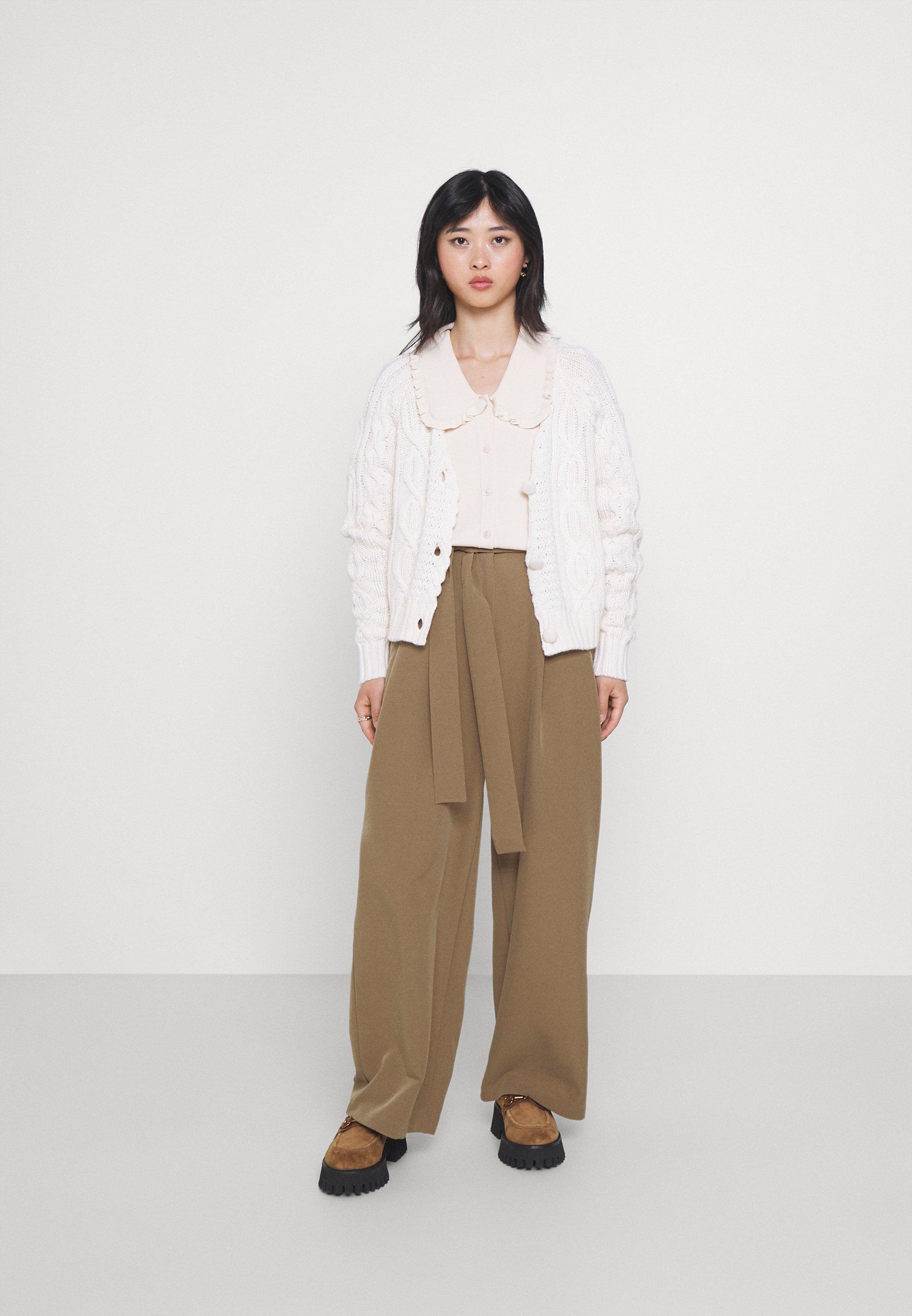 Femme PCFARRAH WIDE PANTS - Pantalon classique