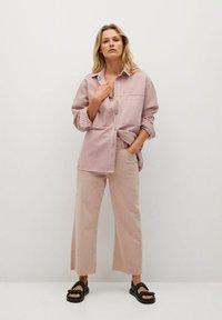 Mango - MICHELLE - Button-down blouse - lys/pastell lilla - 1