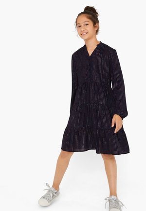 MIT GLITZERGARN - Shirt dress - dark blue aop