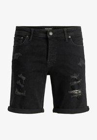 Jack & Jones - JACK & JONES JEANS INTELLIGENCE - Denim shorts - black denim - 0