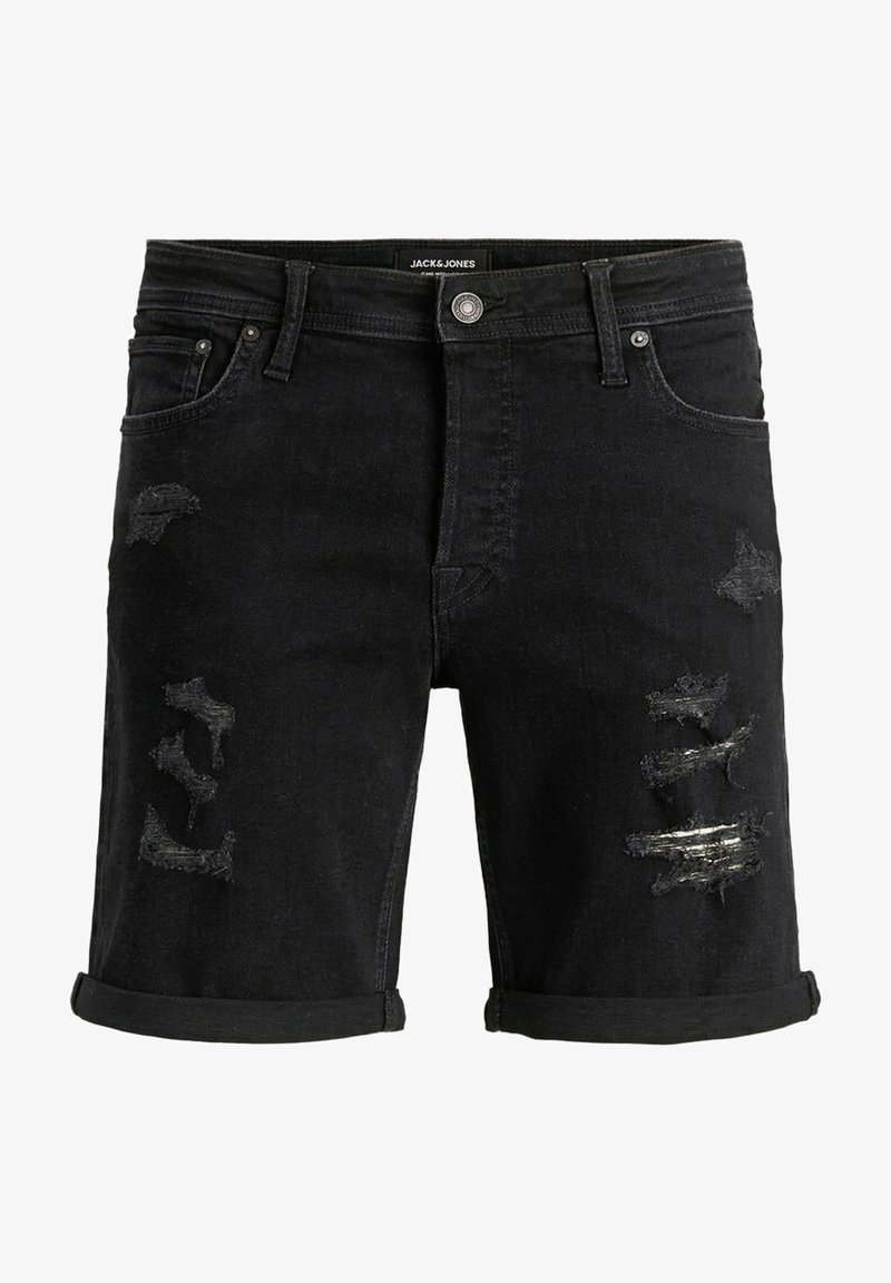 Jack & Jones - JACK & JONES JEANS INTELLIGENCE - Denim shorts - black denim