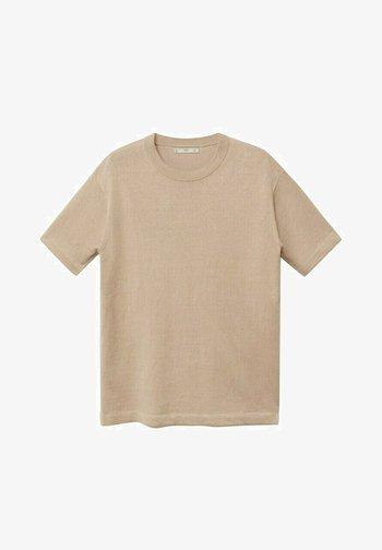 T-shirt basic - sandfarben