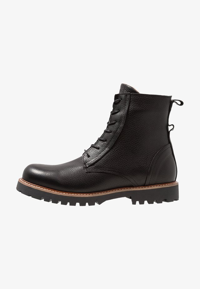 POLAR - Lace-up ankle boots - black