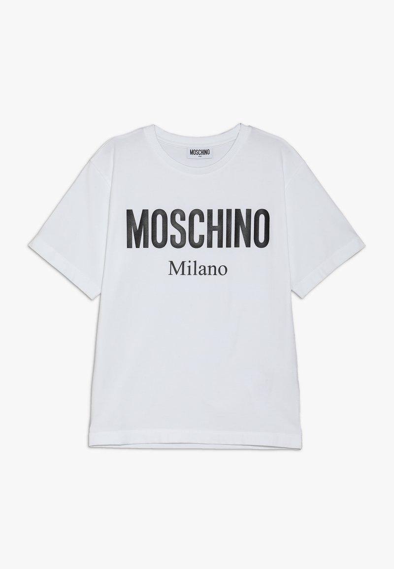 MOSCHINO - MAXI  - T-Shirt print - white