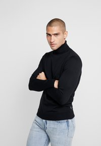 Jack & Jones PREMIUM - JPRFAST ROLL NECK  - Pullover - black - 0
