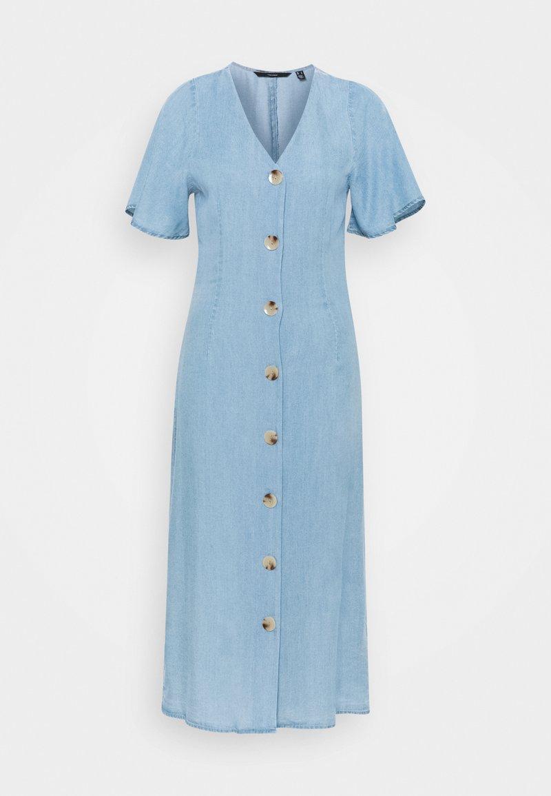 Vero Moda Tall - VMVIVIANA CALF DRESS - Denim dress - light blue denim