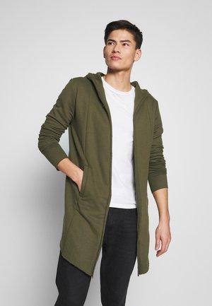 BREKSTAD - Zip-up hoodie - dark olive