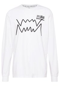 Puma - HOOPS PULL UP TEE - Long sleeved top - white - 3