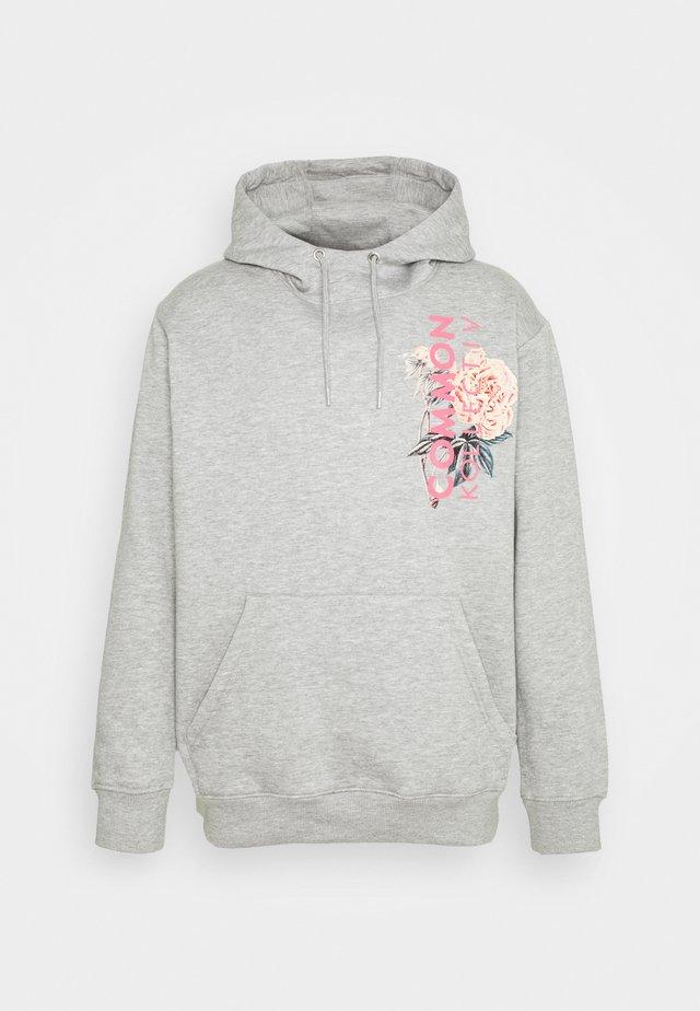 FLORAL HOODIE UNISEX - Sweatshirt - light grey
