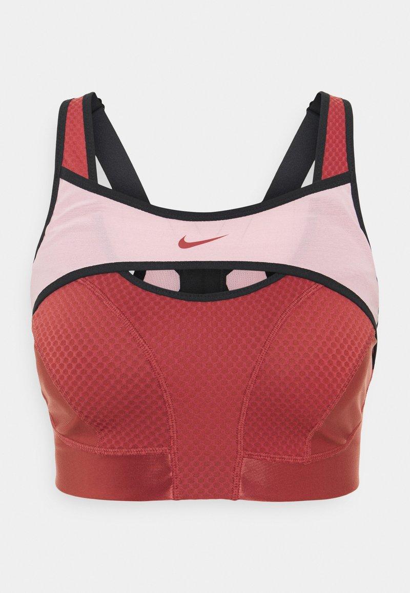 Nike Performance - ALPHA ULTRABREATHE BRA - High support sports bra - canyon rust/pink glaze/black