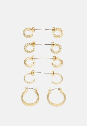 EARRINGS 5 PACK - Øredobber - gold-coloured