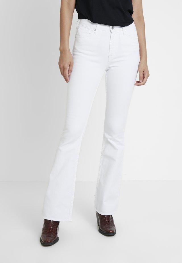 MARIE - Jean flare - white