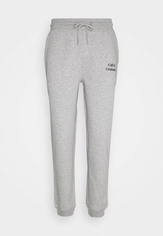 JOGGING PANTS CAFE CROISSANT UNISEX - Tracksuit bottoms - grey/black