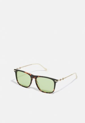 UNISEX - Sunglasses - havana/gold-coloured/green