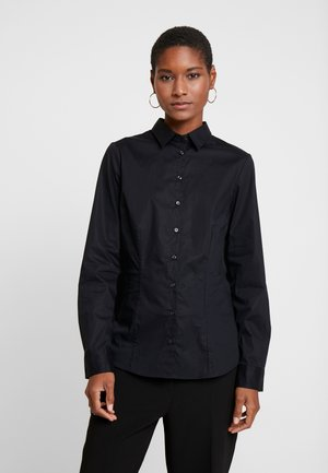LANGARM - Button-down blouse - black