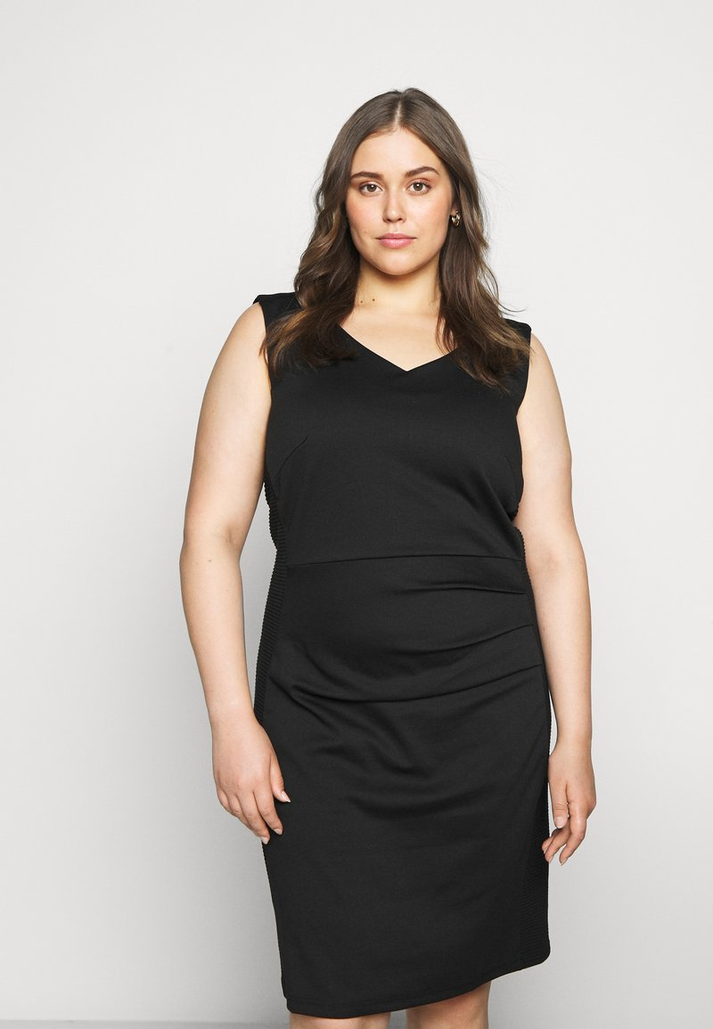 Kaffe Curve - SALLY DRESS - Shift dress - black deep