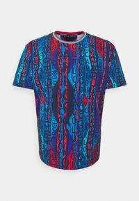 Carlo Colucci - BIG - Print T-shirt - navy/multi - 0