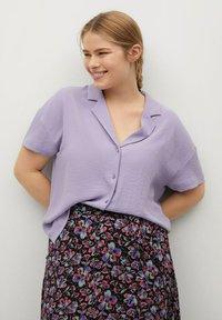 Violeta by Mango - Button-down blouse - lilas - 0