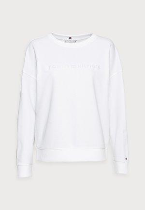 OVERSIZED TONAL OPEN - Bluza - white