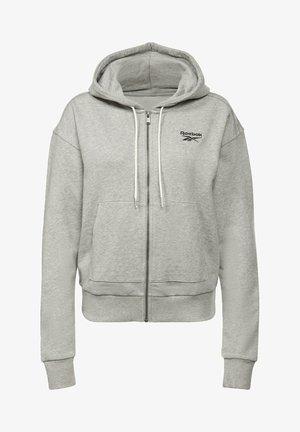 REEBOK IDENTITY ZIP-UP TRACK TOP - veste en sweat zippée - grey