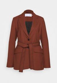 Proenza Schouler White Label - STRETCH SUITING TIE - Krátký kabát - maple - 0
