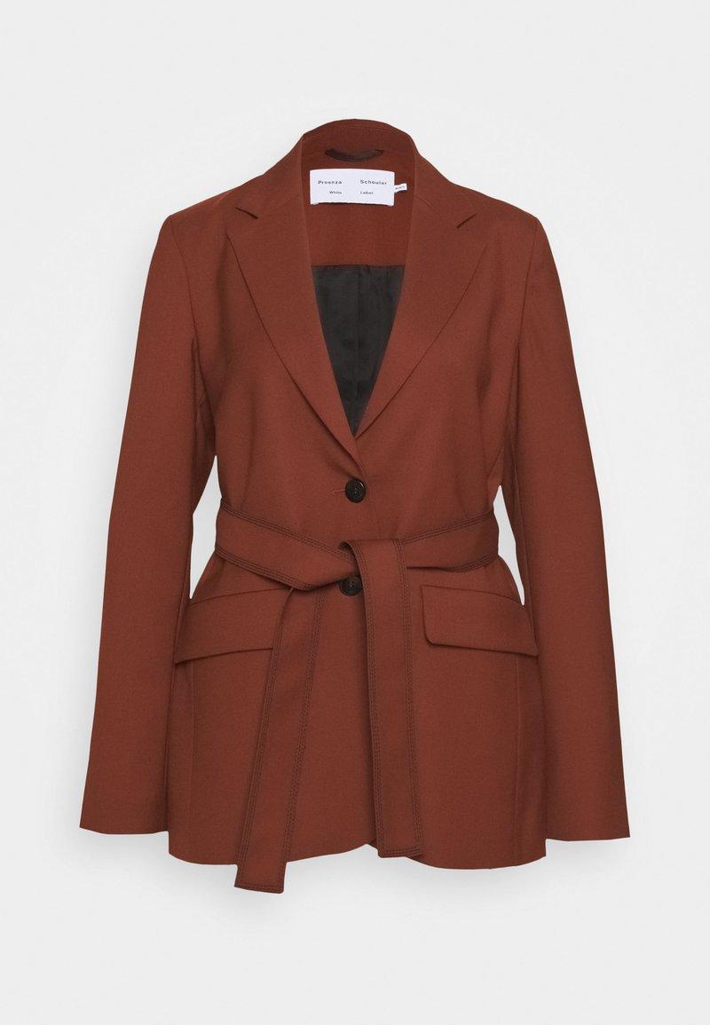 Proenza Schouler White Label - STRETCH SUITING TIE - Krátký kabát - maple