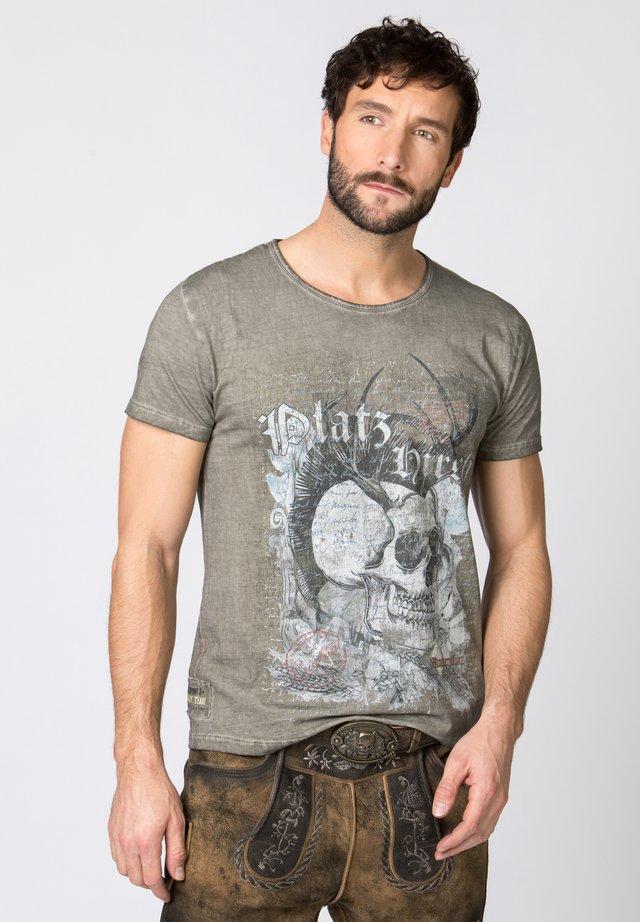 BRUNO - Print T-shirt - stone