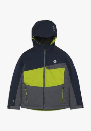 WREST JACKET - Lyžařská bunda - ebony/algrey