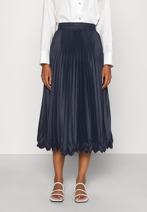 PLEATED SKIRT - A-line skirt - midnight