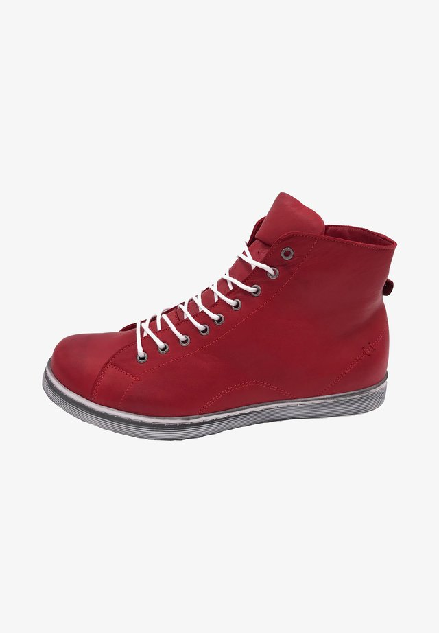 High-top trainers - chilli