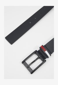 Tommy Jeans - FLAG INLAY BELT - Pásek - black - 1