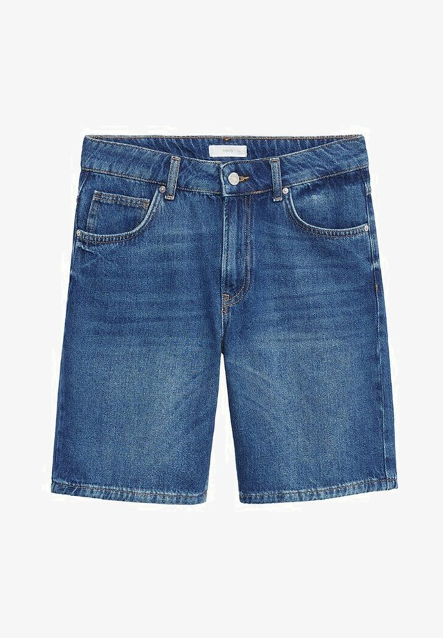 JAMES - Jeansshort - middenblauw