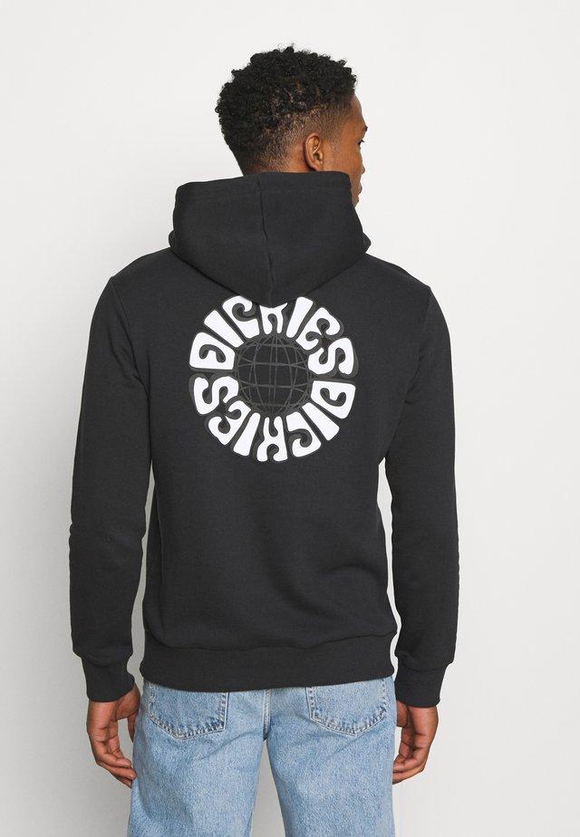 GLOBE HOODIE - Sweatshirt - black