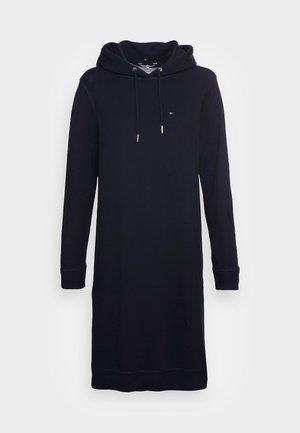 REGULAR HOODIE SHORT DRESS - Day dress - desert sky