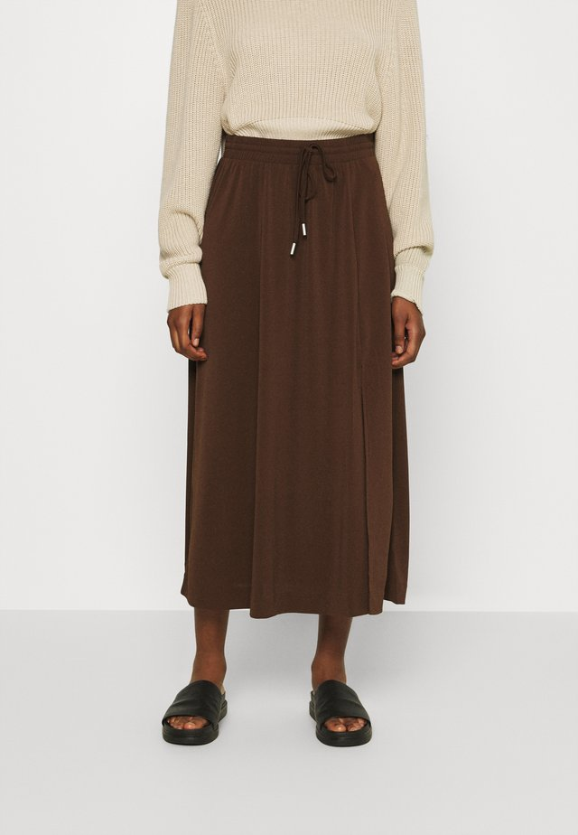 NABAI SKIRT - Spódnica trapezowa - coffee brown