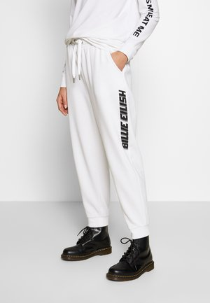 ONLBILLIE EILISH LOGO PANTS - Tracksuit bottoms - bright white