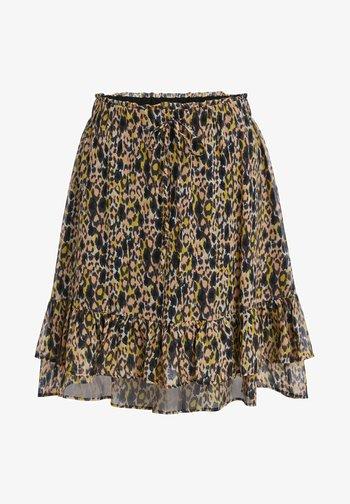Pleated skirt - apricot black