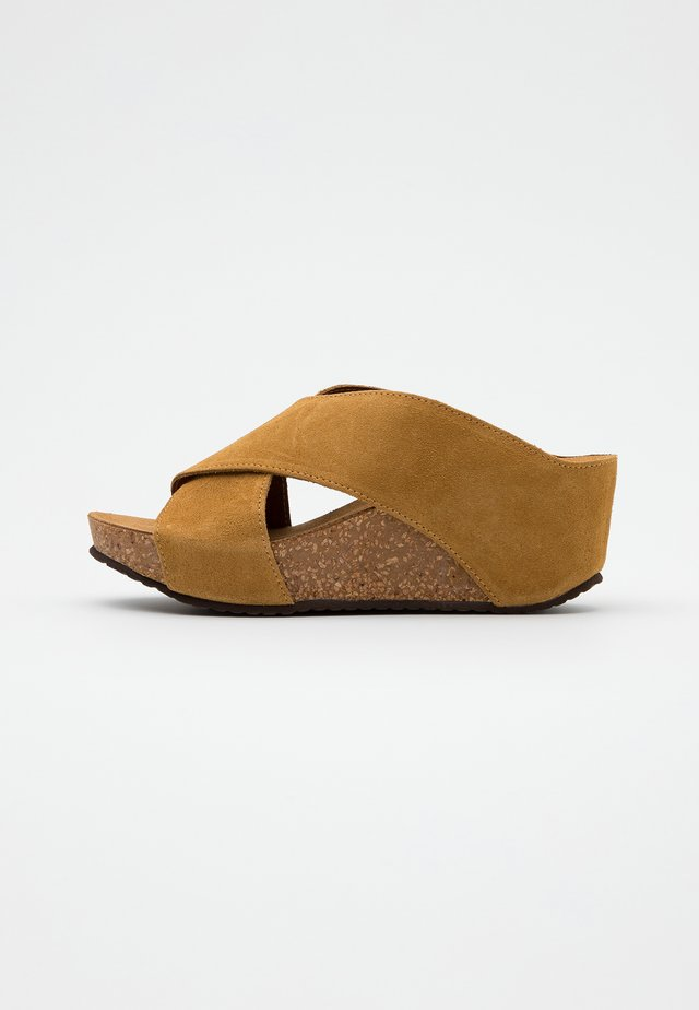 FRANCES - Heeled mules - tan