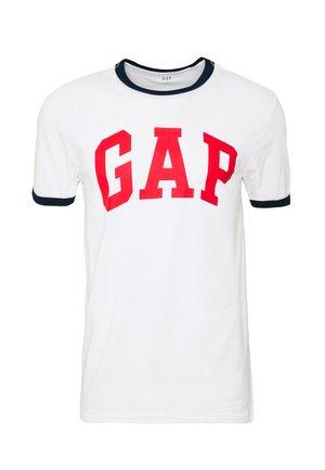 LOGO RINGER - Print T-shirt - white