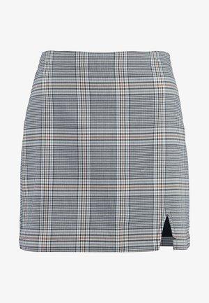 CHECK SKIRT - Mini skirt - cream
