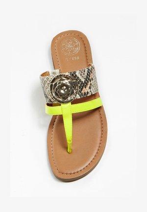 GENERA TEENSLIPPERS PYTHONPRINT - T-bar sandals - beige