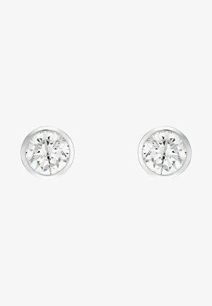 MIT ZIRKONIA - Earrings - silber